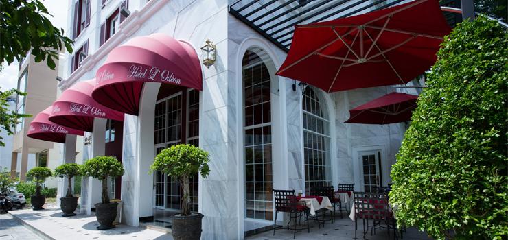 Hotel l'Odeon - terrasse